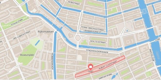 Mapa Albert Cuyp Market