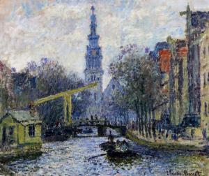 Monet_canal-in-amsterdam zuiderkerk