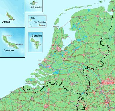 Mapa Reino de los Países Bajos